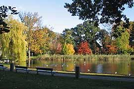 Godewindpark im Herbst in Lübeck-Travemünde