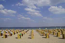 Strandkörbe in Lübeck-Travemünde