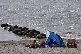 am Strand von Rettin