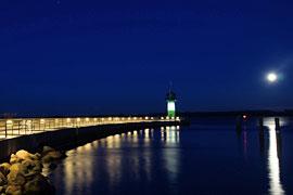 Fackelwanderung - Nordermole Travemünde bei Nacht