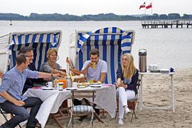 Strandfrühstück in Travemünde