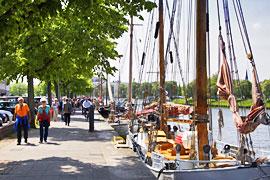 Promenade am Museumshafen Lübeck