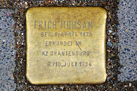 Stolperstein Erich Mühsam