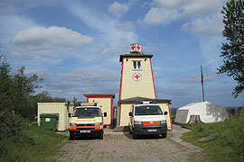 DRK-Wasserwacht auf dem Priwall in Lübeck-Travemünde