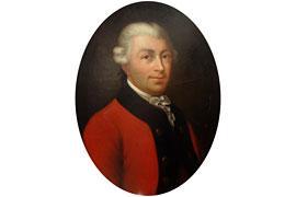 Porträt des berühmten Arabien-Reisenden Carsten Niebuhr (1733-1815) aus dem Dithmarscher Landesmuseum (Meldorf)