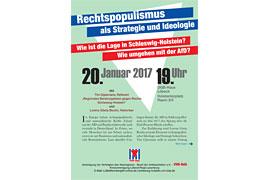 Plakat Rechtspopulismus als Strategie und Ideologie