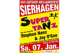 Plakat Supertanz Januar 2017 © Stephan Nanz Entertainment
