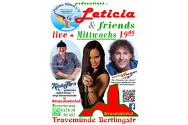 Plakat Leticia & Friends © Strandbahnhof Travemünde