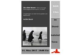 Plakat Die wilde Nonne - Strandbahnhof Travemünde