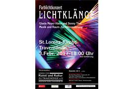Plakat Lichtklänge in der St. Lorenz-Kirche Travemünde