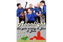 Plakat - Moonlight - Strandbahnhof Travemünde