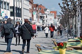 Vorderreihe in Lübeck-Travemünde