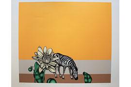 Dieter Asmus, Blume und Zebra, 1971 © Hansestadt Lübeck, Kulturbüro