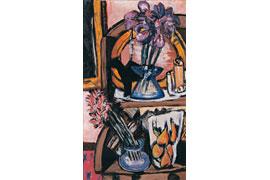 Max Beckmann, Stilleben mit zwei Blumenvasen
