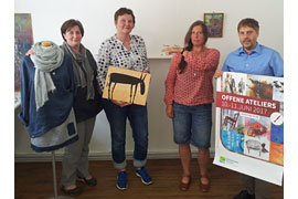 Nathalie Skultety, Julia Kaergel, Ingrid Mohr und Per Köster - ATELIER.TAGE Holsteinische Schweiz