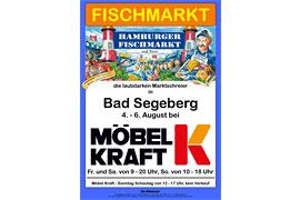 Plakat Fischmarkt Möbel Kraft 2017