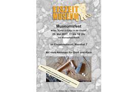Plakat Museumsfest 2017 im Schleswig-Holsteinischen Eiszeitmuseum