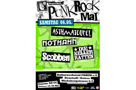 Plakat Punkrock Mai - Kulturwerkstatt Forum Neustadt