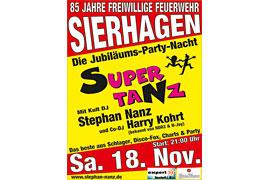 Plakat SUPER TANZ Sierhagen © Stephan Nanz