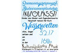 Plakat Wasserwelten - Kulturwerkstatt Forum
