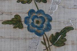 Wandbespannung in der Fürstenloge im Schloss Eutin