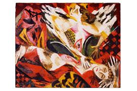 Ernst Wilhelm Nay, Der Engel, 1944, Öl auf Leinwand, 81,5 x 100 cm, Kunsthalle St. Annen, Lübeck, © VG Bild-Kunst, Bonn
