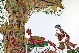 Felsengrotte des Bodhisattva, chinesische Schattenfigur © Klaus Bortoluzzi