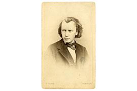 Johannes Brahms © Foto: F. König - Brahms-Institut Lübeck