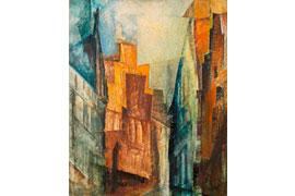 "Lyonel Feininger ""Lübeck. Alte Häuser"" © VG Bild"