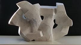 Pierre Schumann, Vogelschwarm, 1978, Carrara-Marmor