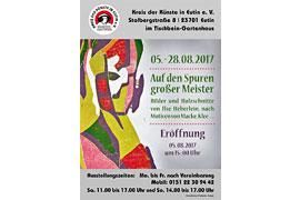 Plakat Ausstellung Ilse Heberlein im Tischbein-Gartenhaus Eutin
