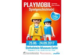 Plakat PLAYMOBIL-Ausstelung im Ostholstein-Museum Eutin