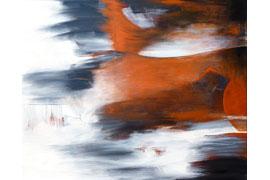 Teigen - Acryl-Mischtechnik auf Leinwand 80x100 © Renate Straatmann