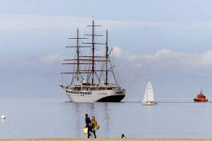 Der Großsegler Sea Cloud II beim Auslaufen vor Travemünde © travemedia