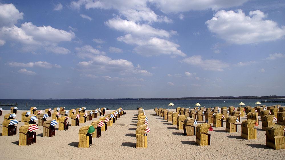 Strandkörbe am Strand von Travemünde © TraveMeddia