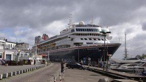 Das Kreuzfahrtschiff MS Braemar am Ostpreußenkai in Travemünde © TraveMedia