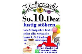 Plakat Flohmarkt Strandbahnhof Travemünde