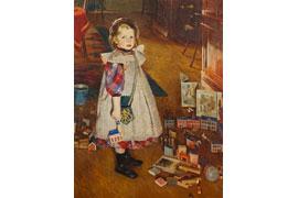 Heinrich Eduard Linde-Walther - Kind im Spielzimmer © Museum Behnhaus Drägerhaus