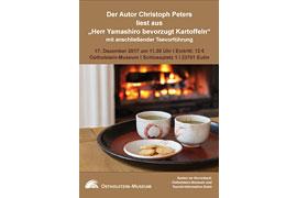 "Plakat Lesung ""Herr Yamashiro bevorzugt Kartoffeln"" © Ostholstein-Museum Eutin"