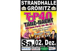 Plakat TOP 40 TANZ-NACHT © Stephan Nanz
