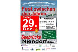 """Plakat """"Fest zwischen den Jahren"""" - Niendorf Ostsee"""