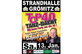 Plakat TOP 40 TANZ-NACHT - Januar 2018 © Stephan Nanz