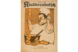 Kladderadatsch Karikatur Friedrich Ebert backt sich einen Reichskanzler
