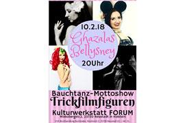 Plakat Bauchtanz-Mottoshow - Kulturwerkstatt Forum Neustadt in Holstein