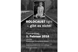Plakat - Holocaust light - gibt es nicht!