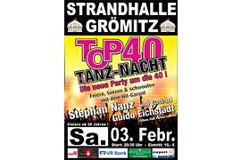 Plakat TOP 40 TANZ-NACHT - Februar 2018 © Stephan Nanz