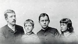 Heinrich, Carla, Thomas und Julia Mann, ca. 1889 © ETH-Bibliothek Zürich, Thomas-Mann-Archiv, Fotograf unbekannt