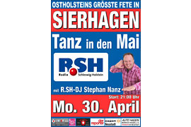 Plakat Tanz in den Mai - Sierhagen © Stephan Nanz