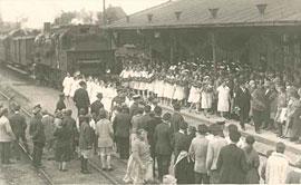 Eröffnung der Bäderbahn am 31. Mai 1928 in Neustadt in Holstein © zeiTTor