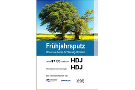 Plakat - Unser sauberes Schleswig-Holstein